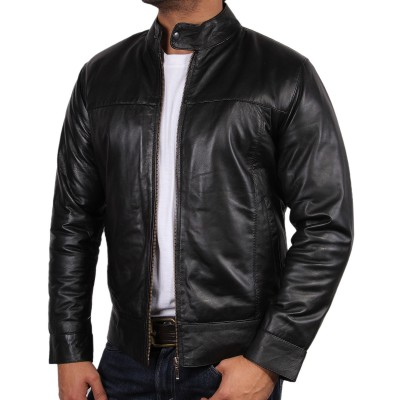 Quality leather jacket for men online
