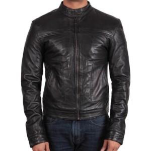 leather biker jackets for men online UK