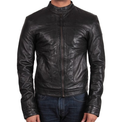 leather biker jackets for men online UK