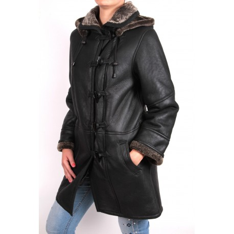 Ladies Shearling sheepskin Jacket Coat- Nebraska