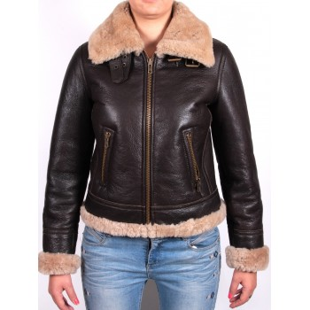 Ladies Shearling sheepskin Jacket - Virginia