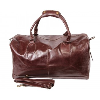 Brown Leather Holdall bag - Hayes
