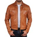 Mens Leather Biker Jacket Genuine Lambskin Leather