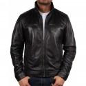 Mens Leather Biker Jacket Genuine Leather