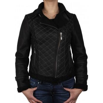 Womens Sheepskin Leather Jacket-Ailsa