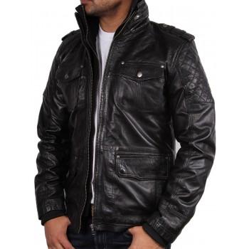 Men's Leather Jacket Black - Tales