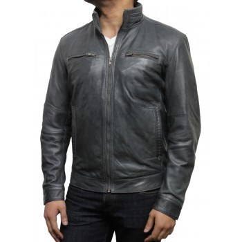 Men's Brown Leather Jacket Brown - Chicago