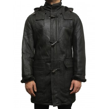 Men's shearling sheepskin duffle coat - Vitali
