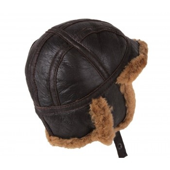 100% Sheepskin Aviator Pilot Hat