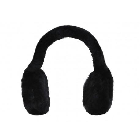 Hamptons Black Classic Unisex Genuine Sheepskin Ear Muffs