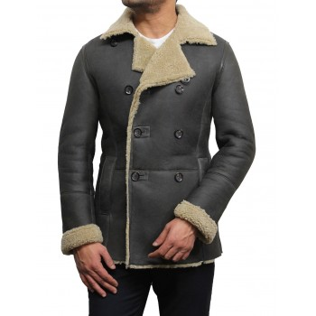 Men's shearling sheepskin jacket - Rambo