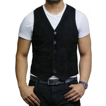 Mens Leather Tan SmartWaistcoat