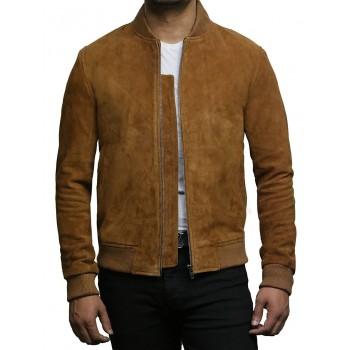 Mens Leather Vest Genuine Goat Suede