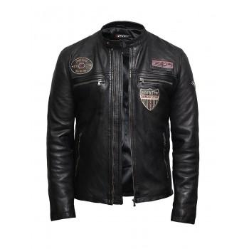 Men's Leather Jacket in Lambskin Designer Style