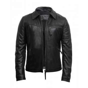 Mens Leather Jacket Genuine Lambskin