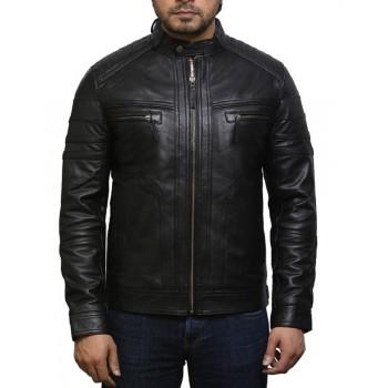 Mens Leather Jacket Genuine Lambskin Distressed