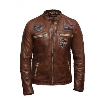Mens Leather Jacket Genuine Leather