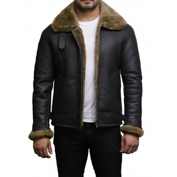Men's shearling sheepskin jacket - Moscow