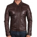 Men's  Leather Jacket Brown - Hazard