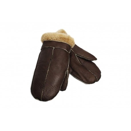 Unisex Soft Thick 100% Sheepskin Leather Mittens Ideal For Winter