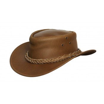 Mens Wide Brim Cowbo Tan Aussie Western Hat