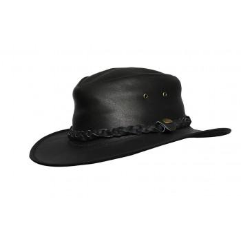 Mens Wide Brim Cowbo Black Aussie Western Hat