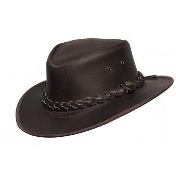 Mens Wide Brim Cowbo Brown Aussie Western Hat
