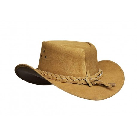 Mens Australian Leather Original Cowboy Aussie Bush Hat