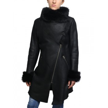 Women Shearling sheepskin Jacket Coat- Nebraska