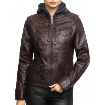 Women's Black Short Biker Nappa Leather Jacket