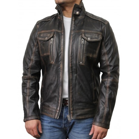Mens Leather Jacket Genuine Leather