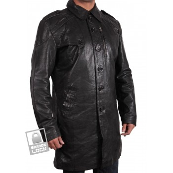 Men's Leather Jacket Black - Outsider