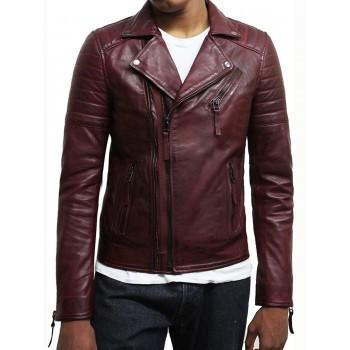Mens Leather Jacket Genuine Lambskin