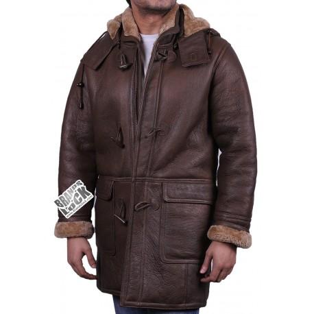 Men's Brown Leather Jacket - Whom