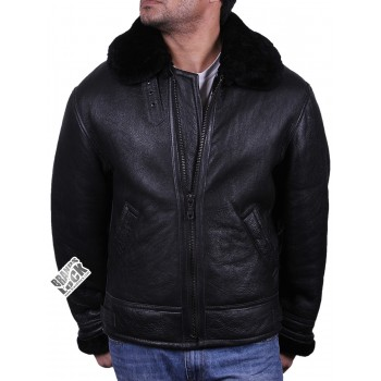 Men's shearling sheepskin jacket - Crimea