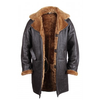 Men's shearling sheepskin duffle coat - Virginia