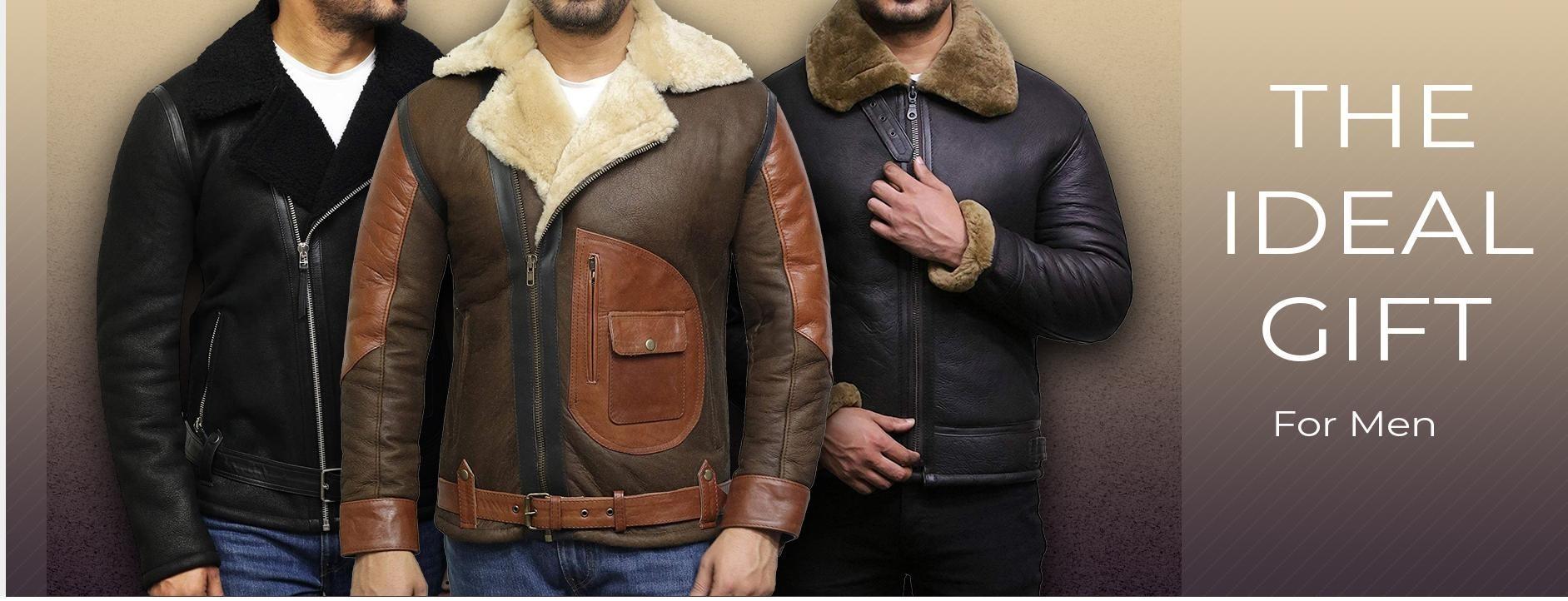 Sueskinn jakker for menn