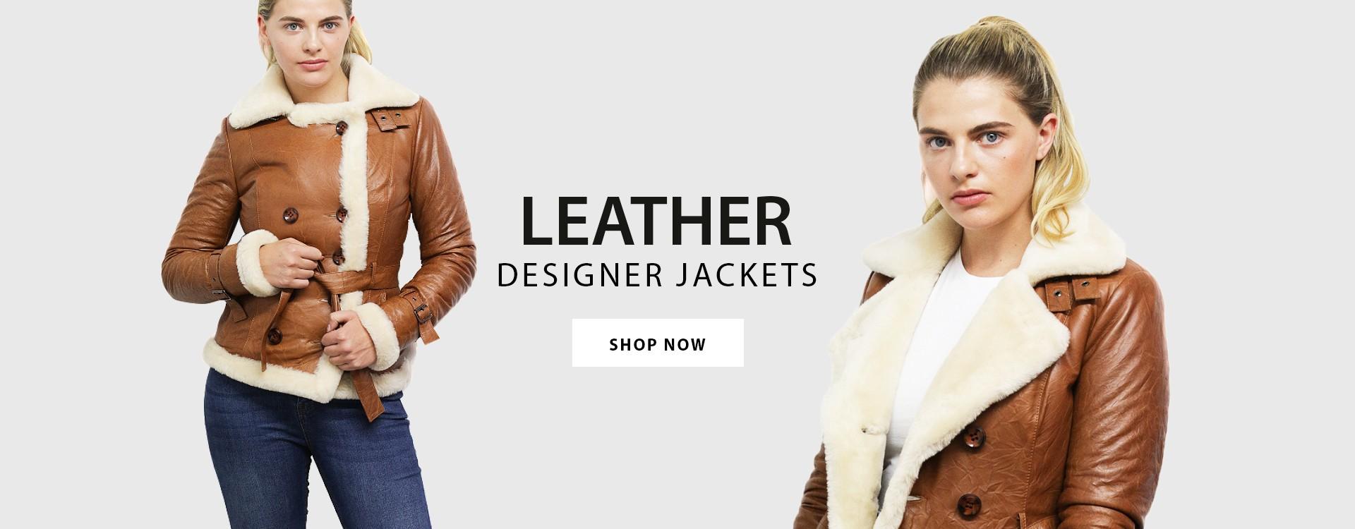 Womens shearling sheepskin leather jacket